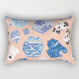 Chinoiserie Curiosity Cabinet Toss 1 Rectangular Pillow