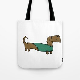 Daschund with sweater Tote Bag