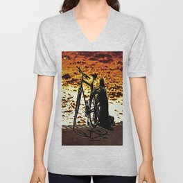 Chilling by the river Unisex V-Neck