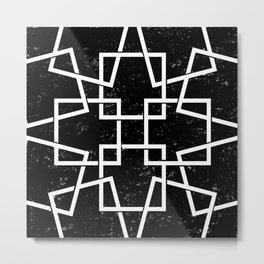 Black and White Minimalist Geomentric Metal Print