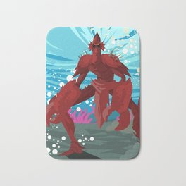 crab evil monster Bath Mat
