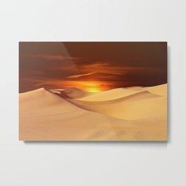Desert Sun Landscape Photographic Metal Print