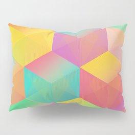 Rainbow Cubes (Vibrant Transparent Hexagon) Pillow Sham