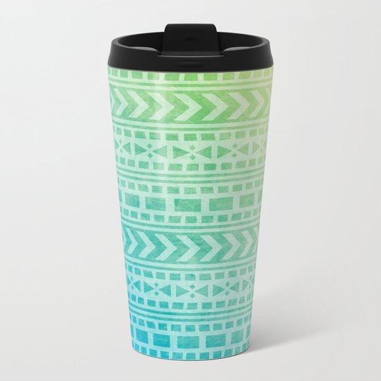 Aztec Pattern 07 Metal Travel Mug