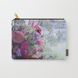 Funky Art <<>> Colorful flowers and setting Carry-All Pouch