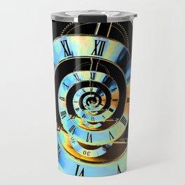 Infinite Time Blue Travel Mug