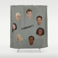 community Shower Curtains featuring Community Simple by mycolour
