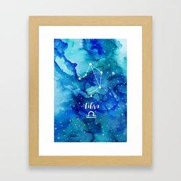 Libra constellation Framed Art Print
