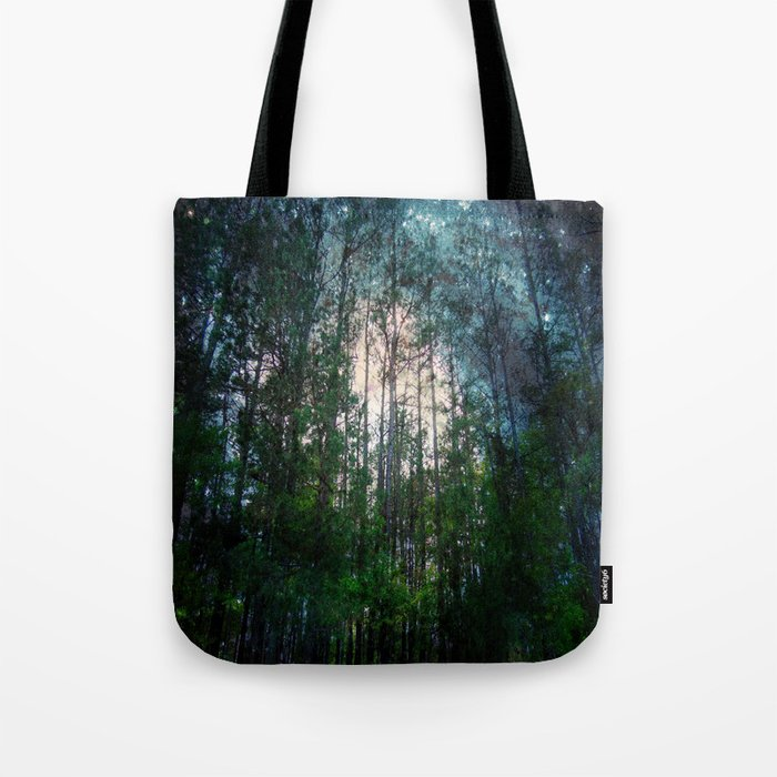 Mystic Forest Teal Galaxy Tote Bag