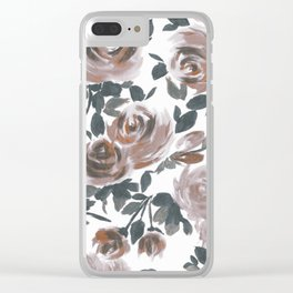 FLORAL - 18118/2 Clear iPhone Case
