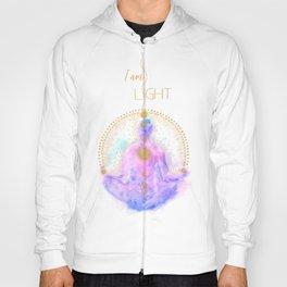 I am Light Affirmation | Modern Energy Art | Watercolor Meditation Spiritual Illustration Hoody