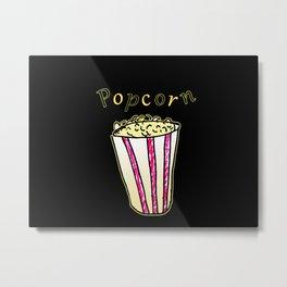 Popcorn: Black Metal Print