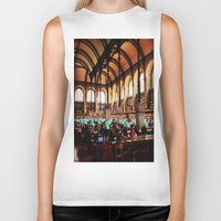 library Biker Tanks featuring Paris Library by MarianaManina