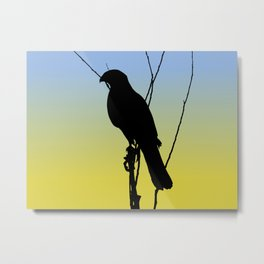 Cooper's Hawk Silhouette at Sunrise Metal Print
