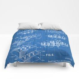 Legos Patent - Legos Brick Art - Blueprint Comforters
