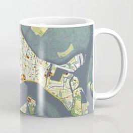 Venice city map antique Coffee Mug