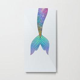 rainbow mermaid tail Metal Print