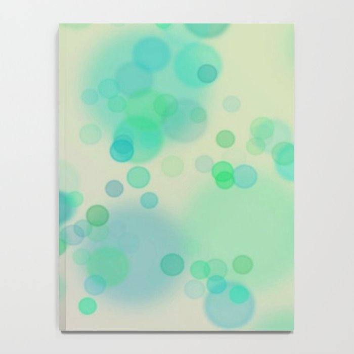 Painterly Blue and Green Circle Abstract Notebook