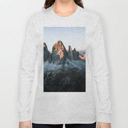 Dolomites sunset panorama - Landscape Photography Long Sleeve T-shirt