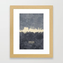 Heidelberg Germany Skyline Framed Art Print