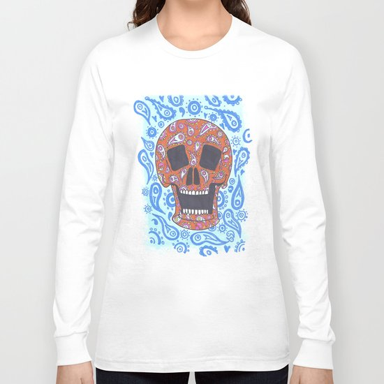 Paisley Skull Long Sleeve T-shirt