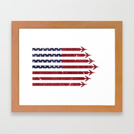 USA Flag Military Jets Framed Art Print