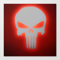 punisher Canvas Prints featuring Punisher 2 by Beastie Toyz