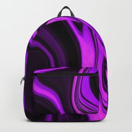 Purple Abstract Desgn Artwork Backpack