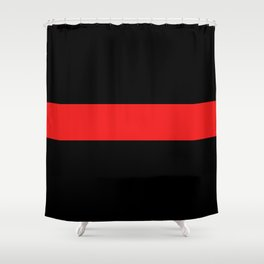 Firefighter: The Thin Red Line Shower Curtain