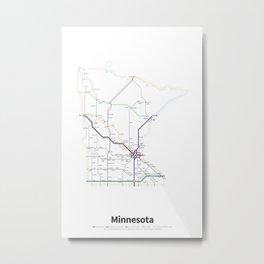 Highways of the USA – Minnesota Metal Print