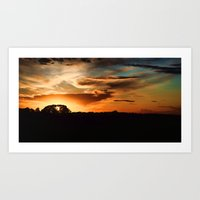 swedish Art Prints featuring Swedish sunset by Mark W