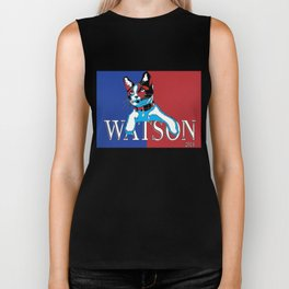 Watson For President (Red, White, and Blue Edition) Biker Tank