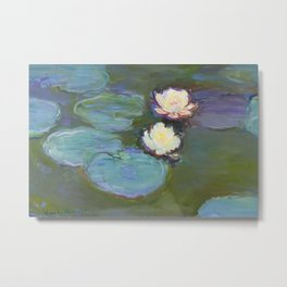 Nympheas by Claude Monet (1897–1898) - Fine Art Collection Metal Print