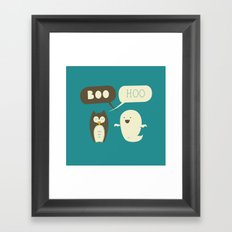 Boo Hoo Framed Art Print