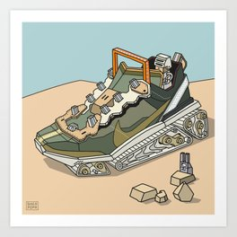 sneaker vehicle 2 Art Print