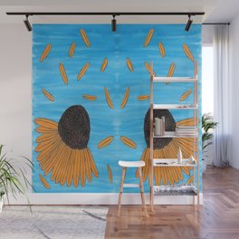 Mexican Yellow Big Headed Flower Cabezona Wall Mural