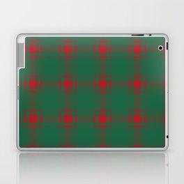 Minimalist Middleton Tartan in Red + Green Laptop & iPad Skin