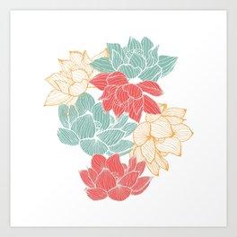 Lotus Carousal Art Print