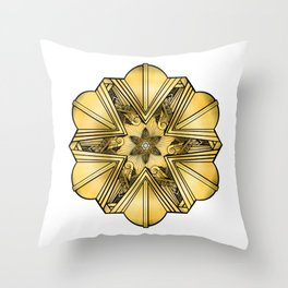 Art Deco Mandala Throw Pillow