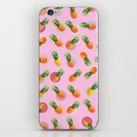pineapple iPhone & iPod Skins featuring pineapple by mark ashkenazi
