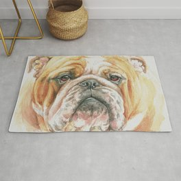 English Bulldog portrait Rug