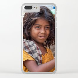 Girl with Chilies Clear iPhone Case