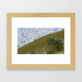 Quito from above Framed Art Print