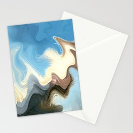 Hair Puzzle: digital abstract art Stationery Cards