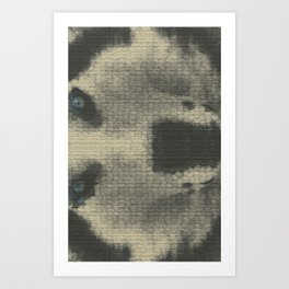 Just a lil husky. Art Print