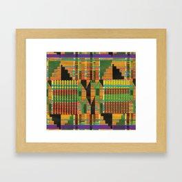 Kente Stripes Framed Art Print