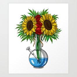 Weed Bong Vase Art Print