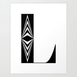 L – Black Art Print