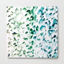 Blue Green Watercolor Metal Print