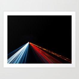 Two Way Traffic Lights Art Print